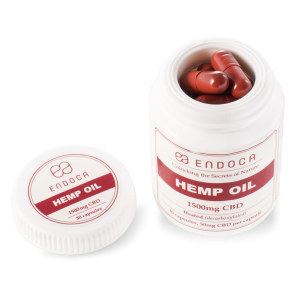 Endoca CBD Hemp Oil Capsules DC 1500 mg.