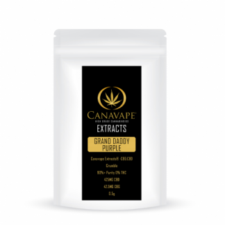 Canavape Crumble 93%+ CBD:CBG - 500 mg - Various Flavours